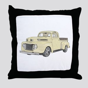 1950 Ford F1 Throw Pillow