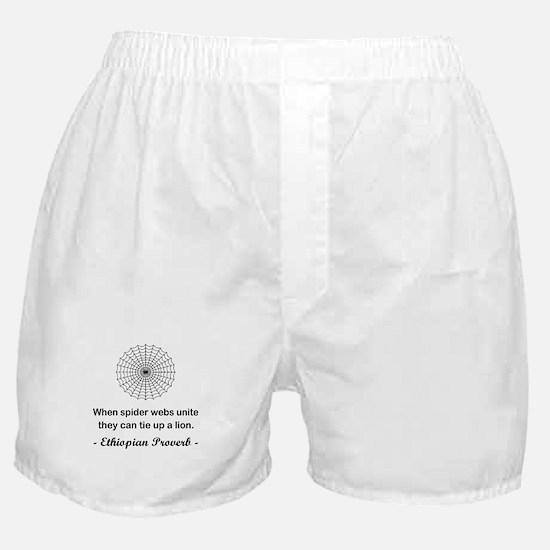 ETHIOPIAN PROVERB Boxer Shorts