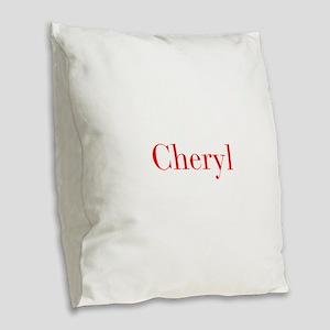 Cheryl-bod red Burlap Throw Pillow