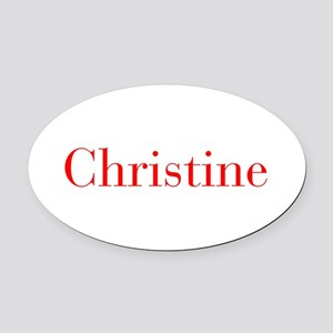 Christine-bod red Oval Car Magnet