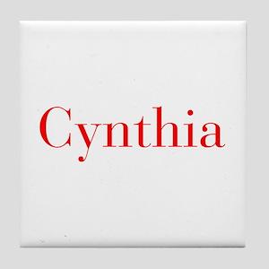Cynthia-bod red Tile Coaster