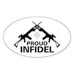 Infidel Oval Sticker