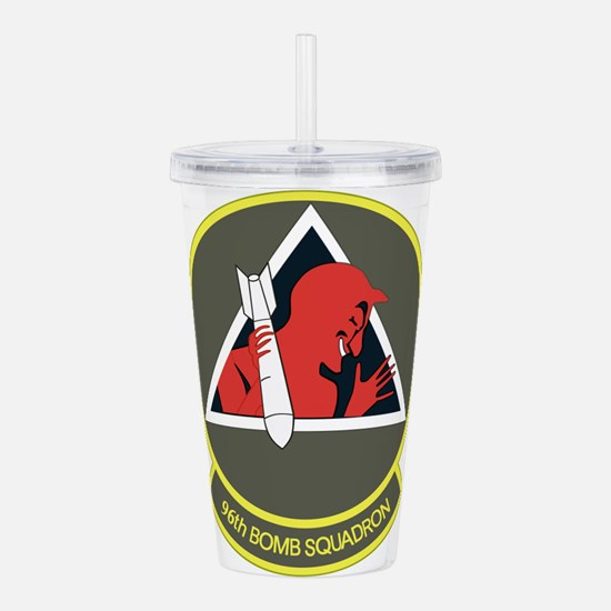 96_bomb_squadron.png Acrylic Double-wall Tumbler