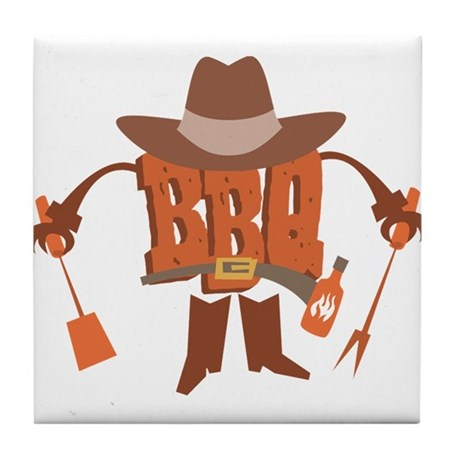 BBQ Dude Tile Coaster