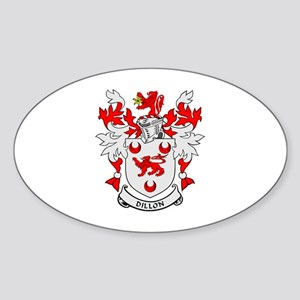 DILLON Coat of Arms Oval Sticker