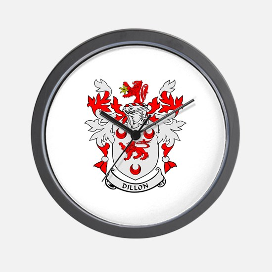 DILLON Coat of Arms Wall Clock