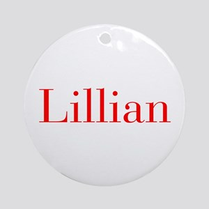 Lillian-bod red Ornament (Round)
