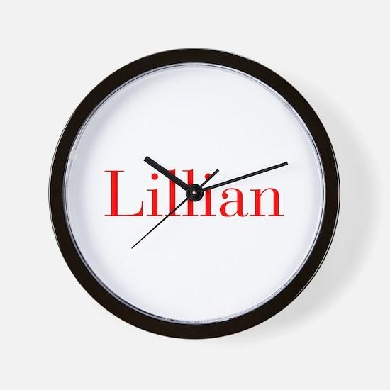 Lillian-bod red Wall Clock