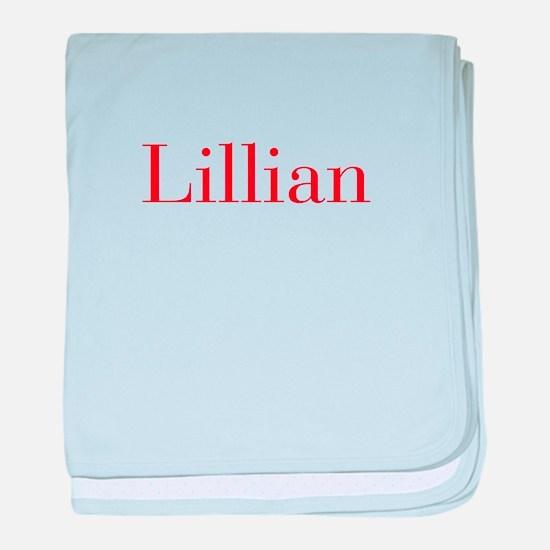Lillian-bod red baby blanket