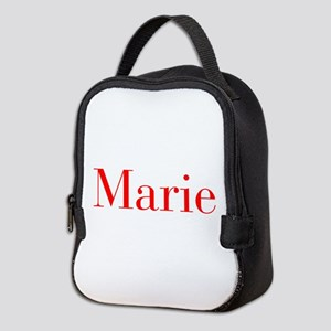 Marie-bod red Neoprene Lunch Bag