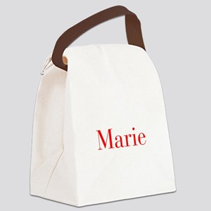 Marie-bod red Canvas Lunch Bag