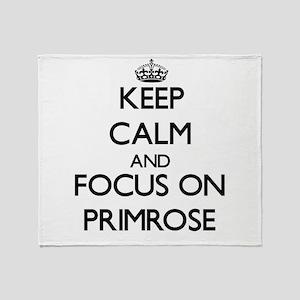 Keep Calm and focus on Primrose Throw Blanket