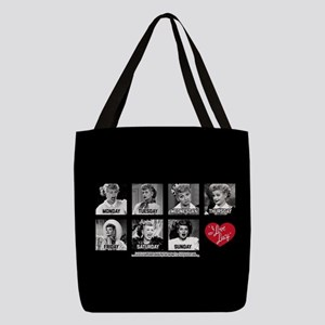 Lucy Days of the Week Polyester Tote Bag