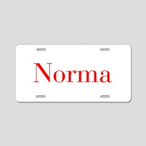 Norma-bod red Aluminum License Plate