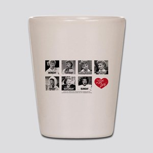 Lucy Days of the Week Shot Glass