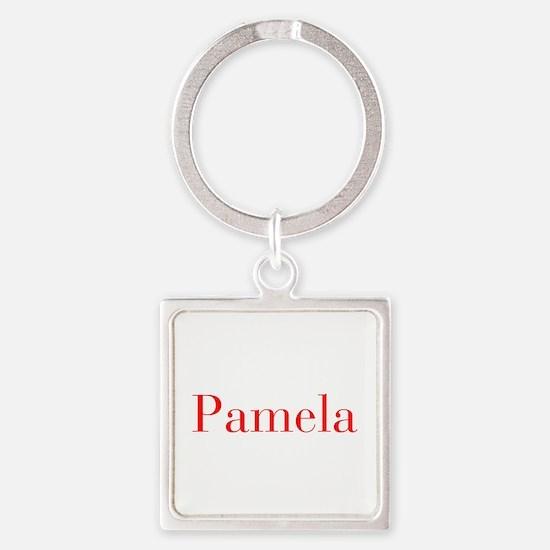 Pamela-bod red Keychains