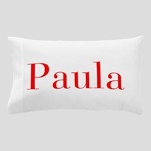 Paula-bod red Pillow Case