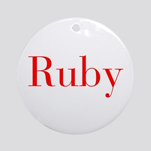 Ruby-bod red Ornament (Round)