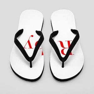 Ruby-bod red Flip Flops