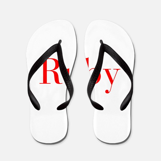 Ruby-bod red Flip Flops
