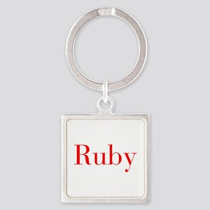 Ruby-bod red Keychains
