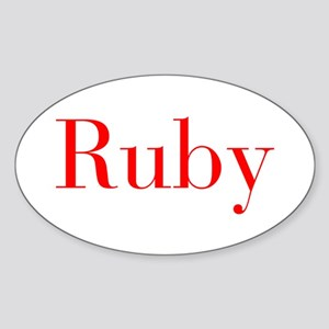 Ruby-bod red Sticker