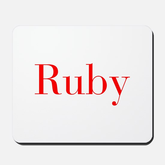 Ruby-bod red Mousepad