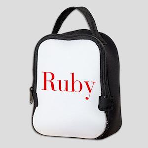 Ruby-bod red Neoprene Lunch Bag