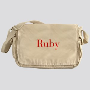 Ruby-bod red Messenger Bag