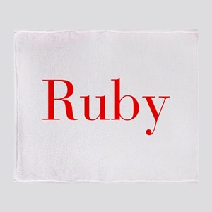 Ruby-bod red Throw Blanket