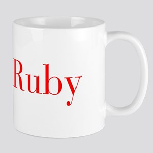 Ruby-bod red Mugs