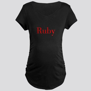 Ruby-bod red Maternity T-Shirt