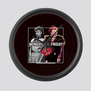I Love Lucy Monday Vs. Friday Large Wall Clock