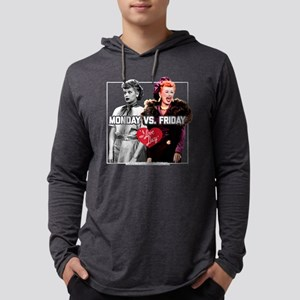 I Love Lucy Monday Vs. Friday Mens Hooded Shirt