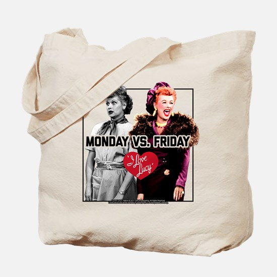 I Love Lucy Monday Vs. Friday Tote Bag