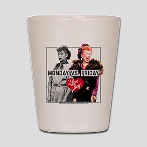 I Love Lucy Monday Vs. Friday Shot Glass