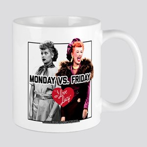 I Love Lucy Monday Vs. Friday 11 oz Ceramic Mug