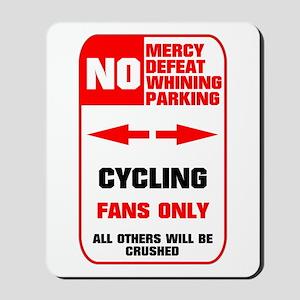NO PARKING Cycling Sign Mousepad