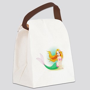 Beautiful Mermaid Canvas Lunch Bag