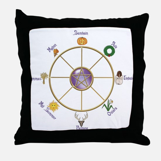Cute Wheel of the year Throw Pillow