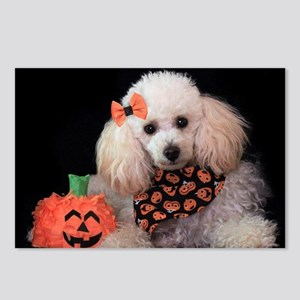 Halloween Poodle Postcards (Package of 8)