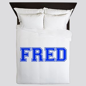 FRED-var blue Queen Duvet