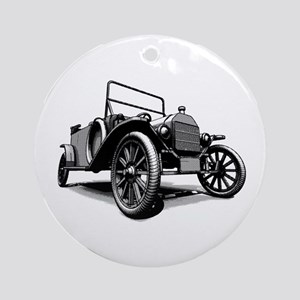 Antique Car Races Ornament (Round)