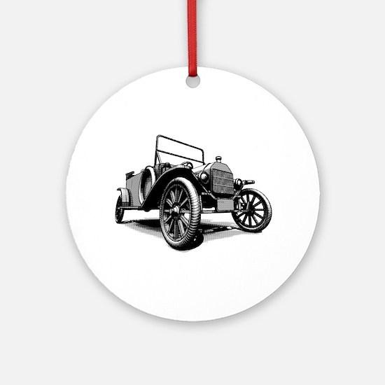 Antique Car Races Ornament (Round)