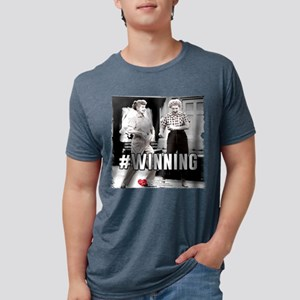 I Love Lucy #Winning Mens Tri-blend T-Shirt