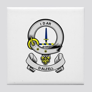 DALZELL Coat of Arms Tile Coaster