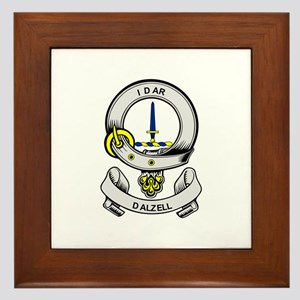 DALZELL Coat of Arms Framed Tile