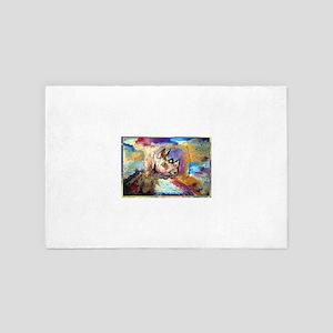 Rhino! Wldlife art! 4' x 6' Rug