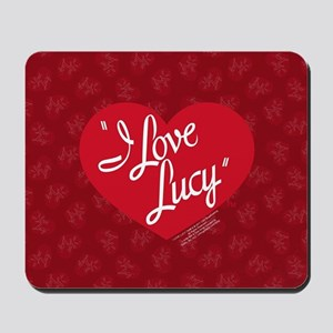 I Love Lucy Logo Mousepad