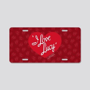 I Love Lucy Logo Aluminum License Plate